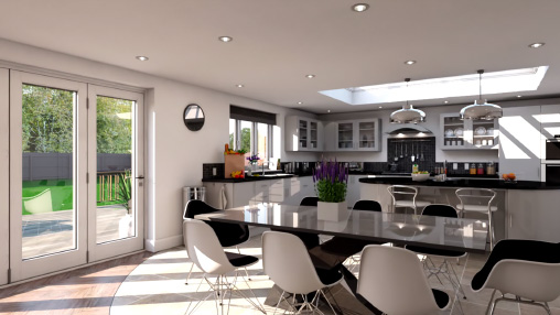 SketchUp kitchen render